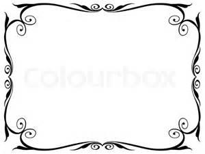 einfachen ornamentalen dekorativen rahmen stock vektor colourbox