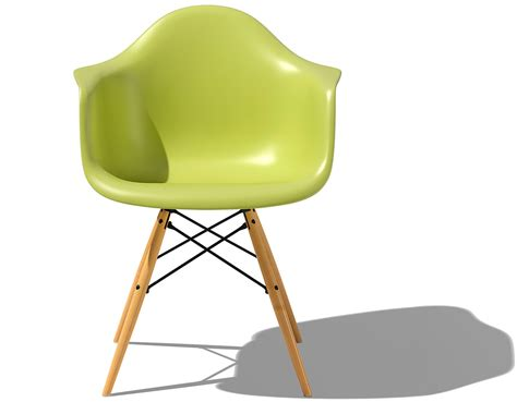 designer chair eames 174 molded plastic armchair with dowel base