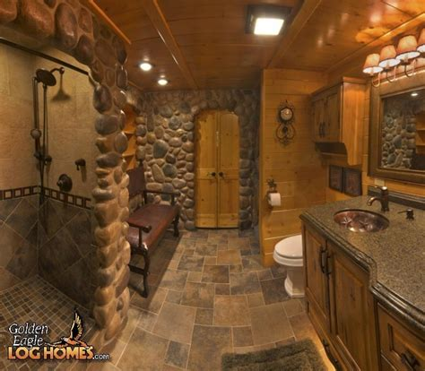 log cabin bathrooms golden eagle log homes log home cabin pictures photos