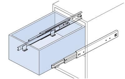extension drawer runner 300mm architectural