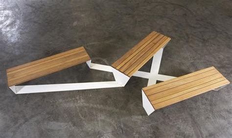 urban bench the ensemble bench was created by roel vandebeek for the