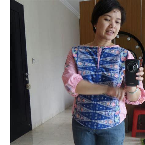 Hem Batik 042 sleeved batik blouse sewing projects burdastyle