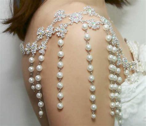 shoulder necklace bridal necklace pearl lariat