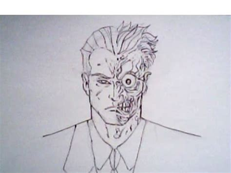 How To Draw Twoface From Batman Detective Comics Dc Drawings Of Joker Faces 2