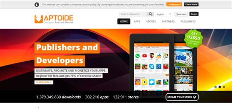 aptoide revenue top 8 app stores to publish your apps and get extra