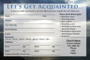 church visitor cards templates church visitor card template