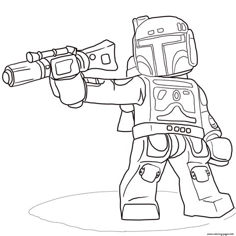 wars lego coloring pages lego wars boba fett coloring pages printable