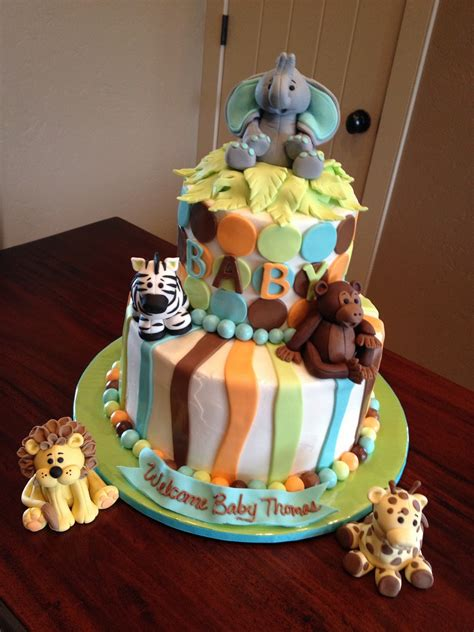 Safari Cakes Baby Shower by Decadent Designs Jungle Animal Baby Shower Cake