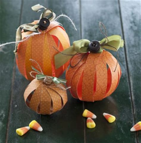 Pumpkin Construction Paper Crafts - paper pumpkins family crafts