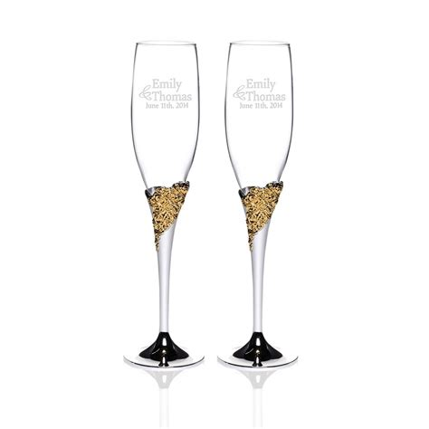 stemless chagne flutes lenox personalized wedding gifts gift ftempo
