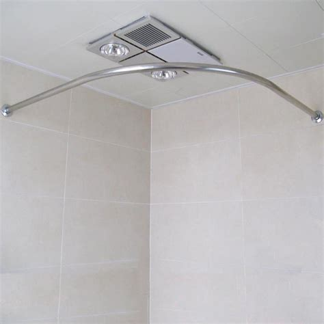 curtain rod corner curved stainless steel retractable shower curtain rod