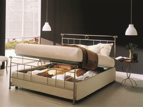 Iron Bed With Storage Iron Bed Storage Bed Iron Beds Collection By Bontempi Casa Design Maurizio Varsi