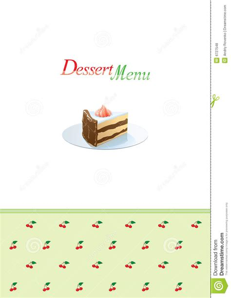 dessert menu template royalty free stock photos image