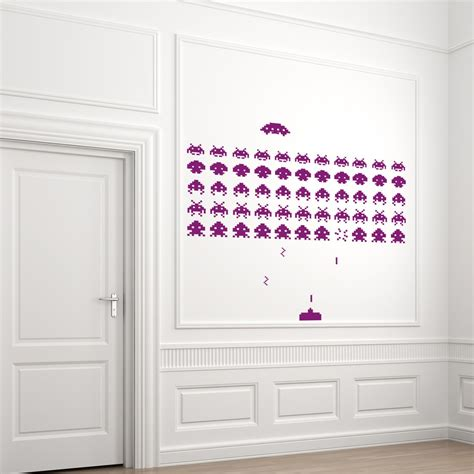 space invaders wall stickers space invaders wall sticker ethical market