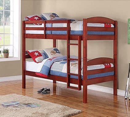 Mainstays Twin Over Twin Wood Bunk Bed Cherry Coconuas185 Cherry Wood Bunk Bed