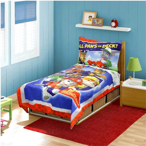 paw patrol ruff ruff rescue 4 pc toddler bedding set