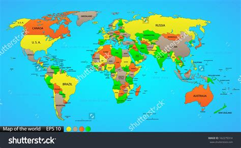 global map  country names  travel information