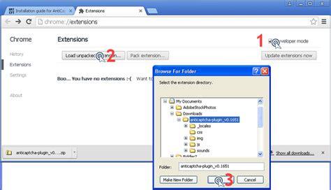 chrome zip file zip installation instructions anticaptcha plugin solver