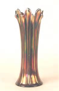 42 marked northwood amethyst carnival glass vase lot 42