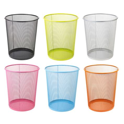 waste paper bins large colourful mesh waste paper basket office metal