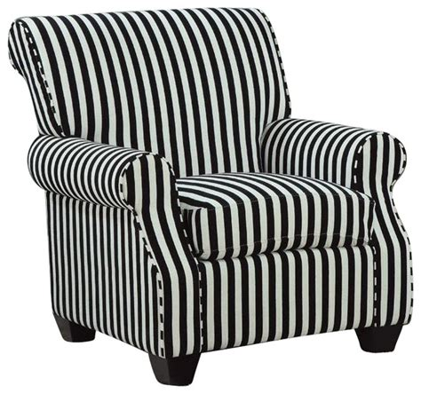 Black And White Striped Accent Chair Coaster Club Chair In Black And White Stripes Contemporary Armchairs And Accent Chairs By