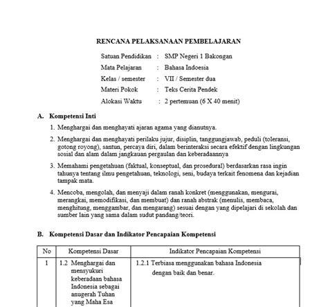 rpp kurikulum 2013 smp jpg download rpp bahasa indonesia smp mts kurikulum 2013