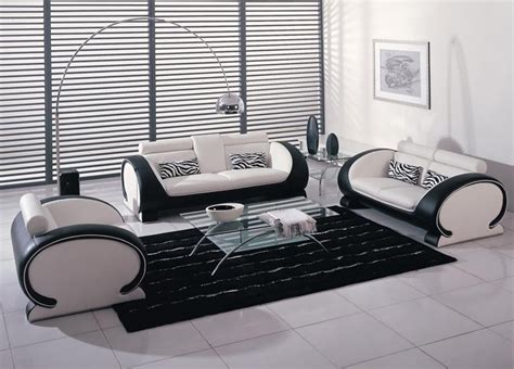 leather couch and chair set 2811 black and white bonded leather sofa set