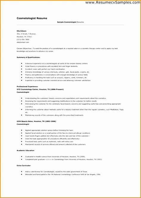 cosmetologist resume templates sles 9 esthetician resume template free sles exles format resume curruculum vitae