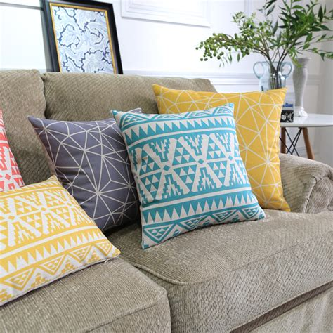 scandinavian style decorative throw pillows colorful