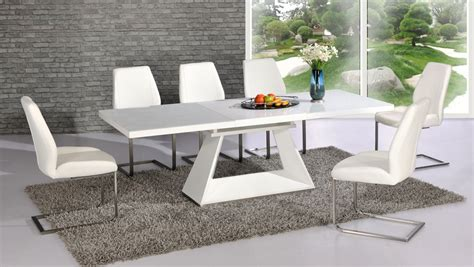 White Gloss Extendable Dining Table White Gloss Extending Dining Room Table Barclaydouglas
