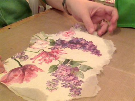 decoupage tutorial napkin how to napkin collage video 2 paper napkin crafts