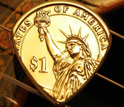 coin guitar picks cool material