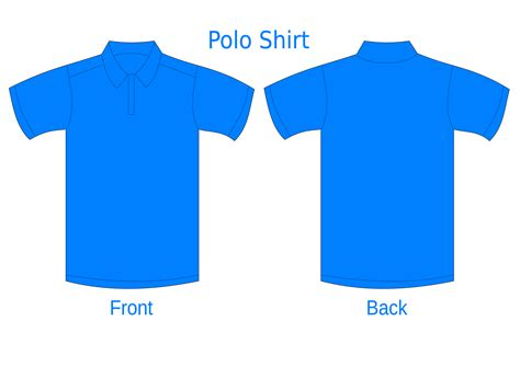 polo shirt template clipart best