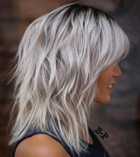 silver hair jaw length 80 sensational medium length haircuts for thick hair