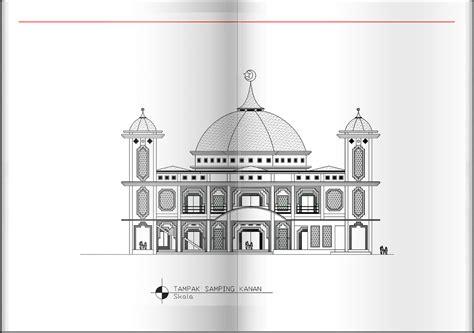 gambar design masjid besar 2d rancangan rumah dan tata ruang