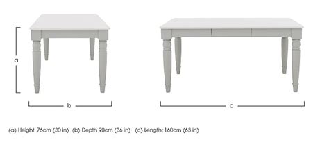 Dining Table Dimensions In M Padstow Dining Table Furniture