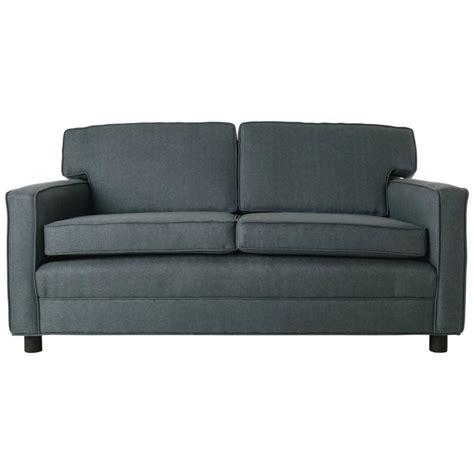 love settee mid century angular gray sofa love seat settee with black