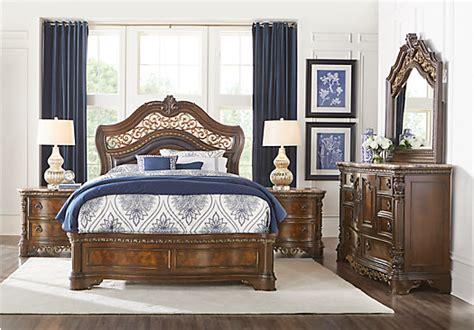 Handly Manor Pecan 5 Pc King Panel Bedroom Bedroom Sets | handly manor pecan 5 pc king panel bedroom bedroom sets