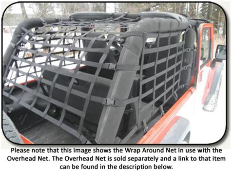 Jeep Net All Things Jeep Wrap Around Cargo Net For Wrangler Lj