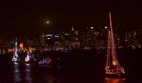 san diego bay parade of lights boat parade eiffel towers light up san diego bay times