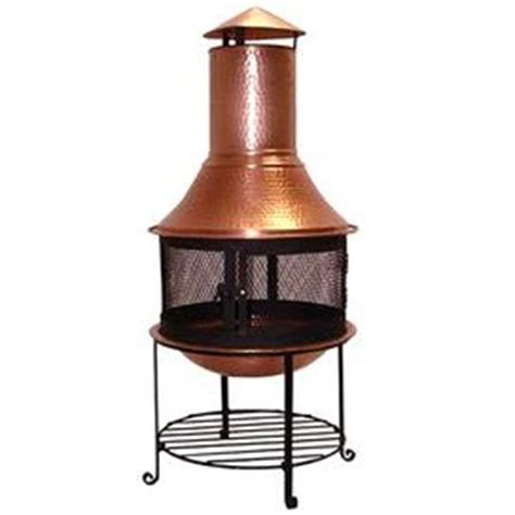 360 Degree Chiminea Alba Steel Firepit Pits Copper And Sun