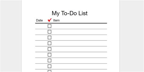 my to do list template every to do list template you ll need