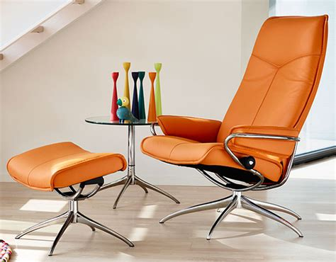 Stressless City Recliner by Stressless Clementine Leather By Ekornes