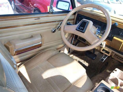 jeep wagoneer interior spice beige interior 1991 jeep grand wagoneer 4x4 photo