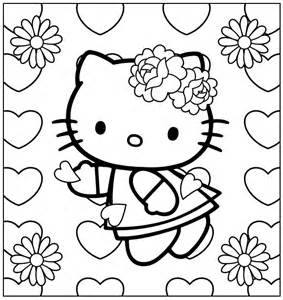 coloriage imprimer kitty coeur ancenscp