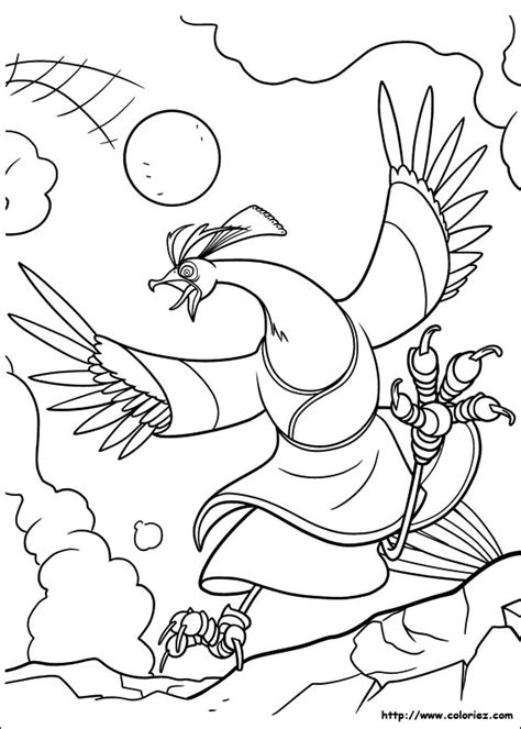 coloring pages kung fu countries coloriage shen abandonne