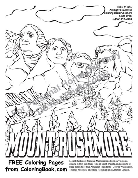 coloring page for mount rushmore coloring pages free online coloring pages mt rushmore