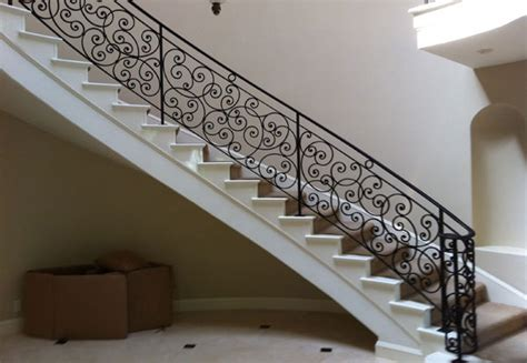 Rod Iron Banister Ornamental Wrought Iron Staircase Railing Orange County