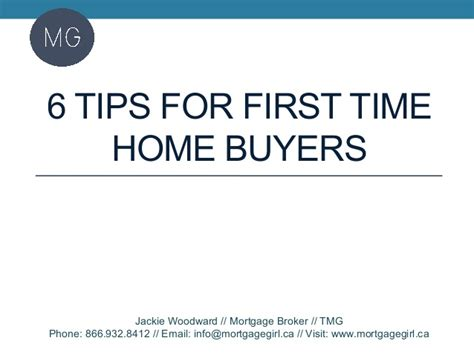 6 tips for time home buyers
