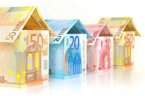 euro house euro houses stock image image of bank banknotes payment